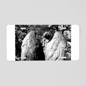 Black Angel. Aluminum License Plate