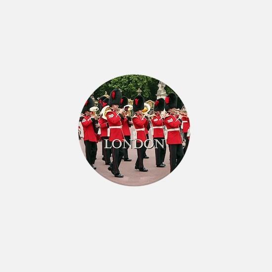 Guards Band, London (caption) Mini Button