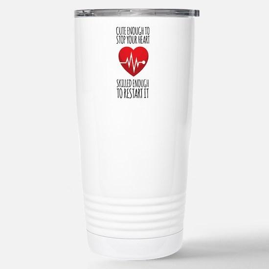 Stop Heart Stainless Steel Travel Mug