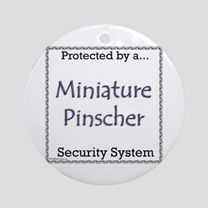 Min Pin Security Ornament (Round)