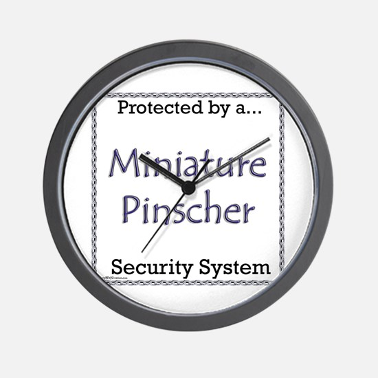 Min Pin Security Wall Clock