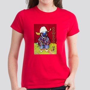 "AuCaDogs ""CowDog Up""TM- Women's Dark T-Shirt"