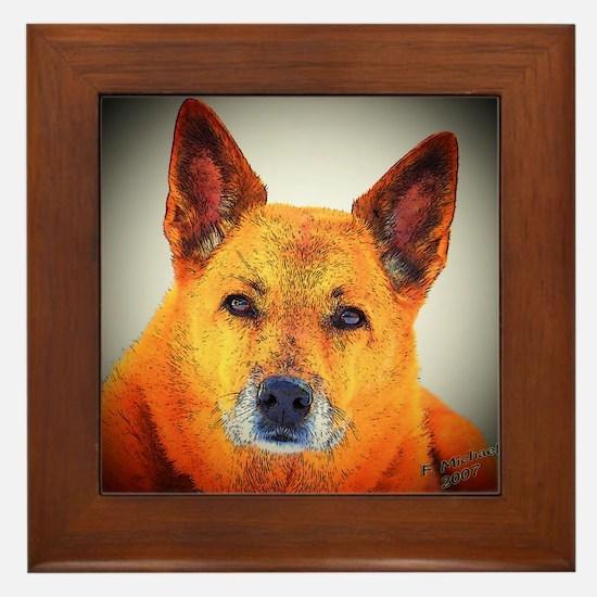 """AuCaDogs """"Gentle Wisdom"""" - Framed Tile"""