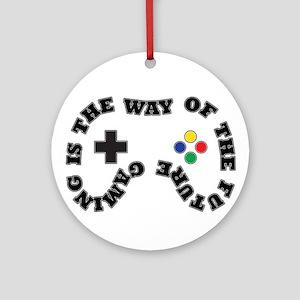Future Gaming Round Ornament