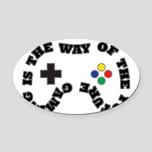 Future Gaming Oval Car Magnet