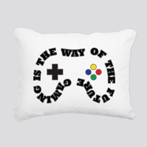 Future Gaming Rectangular Canvas Pillow