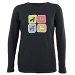 colorblock3 Plus Size Long Sleeve Tee