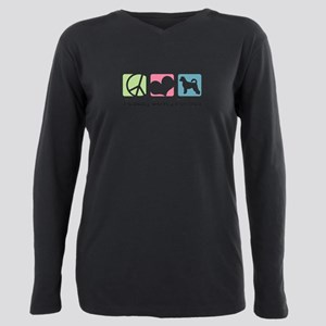 peacedogs.png Plus Size Long Sleeve Tee