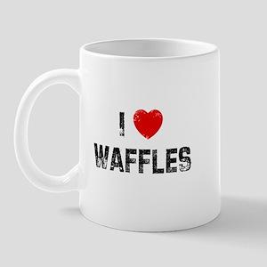 I * Waffles Mug