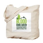 Our Blood Runs Green Tote Bag