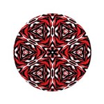 Black, white and red kaleidoscope 9070 Button