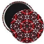 Black, white and red kaleidoscope 9070 Magnets