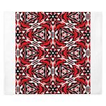 Black, white and red kaleidoscope 9070 King Duvet