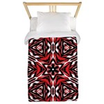 Black, white and red kaleidoscope 9070 Twin Duvet