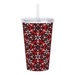 Black, white and red kaleidoscope 9070 Acrylic Dou