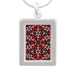 Black, white and red kaleidoscope 9070 Necklaces