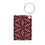 Black, white and red kaleidoscope 9070 Keychains
