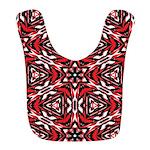 Black, white and red kaleidoscope 9070 Bib
