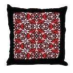 Black, white and red kaleidoscope 9070 Throw Pillo