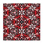 Black, white and red kaleidoscope 9070 Tile Coaste