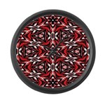 Black, white and red kaleidoscope 9070 Large Wall