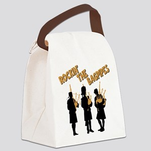 ROCKIN THE BAGPIPES Canvas Lunch Bag