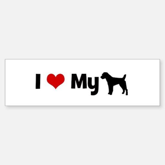 I love my Parson Russell Terr Bumper Bumper Bumper Sticker