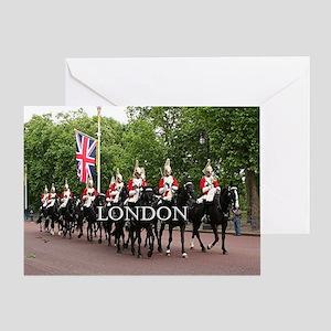 Royal Household Cavalry, London (cap Greeting Card