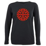 Faux Red Gem Plus Size Long Sleeve Tee