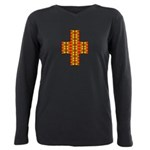 Megalithic Cross Plus Size Long Sleeve Tee