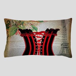 hot corset vintage paris Pillow Case