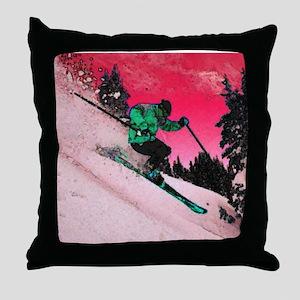 skier2 Throw Pillow