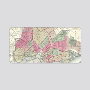 Vintage Map of Brooklyn NY Aluminum License Plate