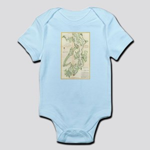 Vintage Map of The Puget Sound (1867) Body Suit