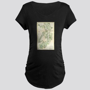 Vintage Map of The Puget Sound ( Maternity T-Shirt
