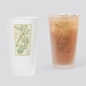 Vintage Map of The Puget Sound (186 Drinking Glass