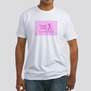 THINK PINK FIND A CURE ALL LIVES MATTER T-Shirt
