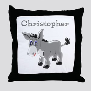 Personalized Donkey Throw Pillow