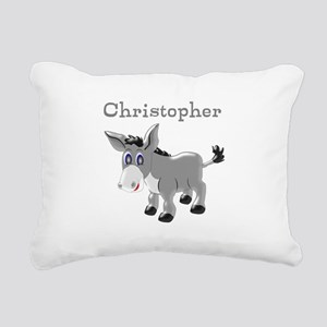 Personalized Donkey Rectangular Canvas Pillow