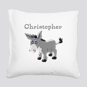 Personalized Donkey Square Canvas Pillow