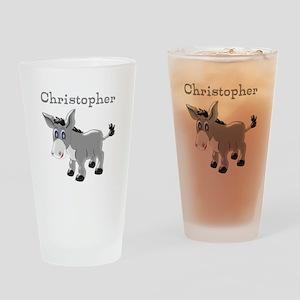Personalized Donkey Drinking Glass
