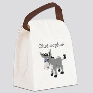 Personalized Donkey Canvas Lunch Bag
