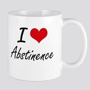 I Love Abstinence Artistic Design Mugs