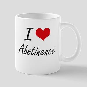 I Love Abstinence Artistic Design Mugs