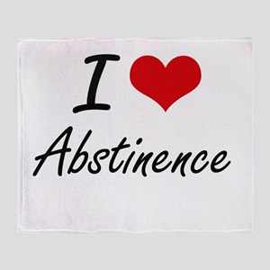 I Love Abstinence Artistic Design Throw Blanket