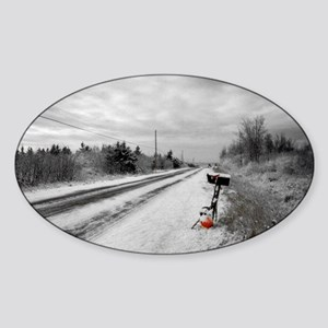 Lonesome Road Oval Sticker