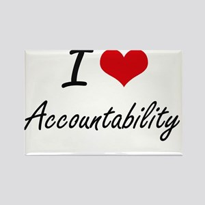 I Love Accountability Artistic Design Magnets