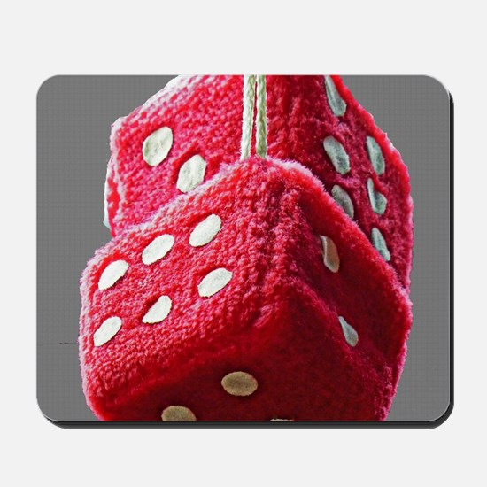 Red Fuzzy Dice Mousepad