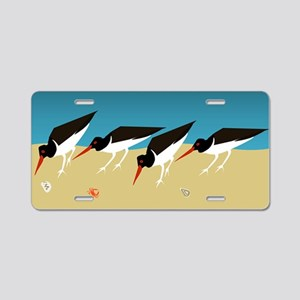 Oystercatchers Aluminum License Plate