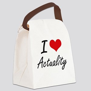 I Love Actuality Artistic Design Canvas Lunch Bag